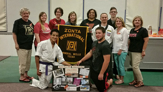 Zonta Club Self Defense Class 2014
